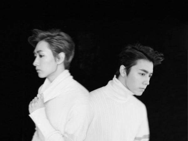 사진   Eunhyuk  & Donghae du groupe Super Junior  pour   The beat goes on, album