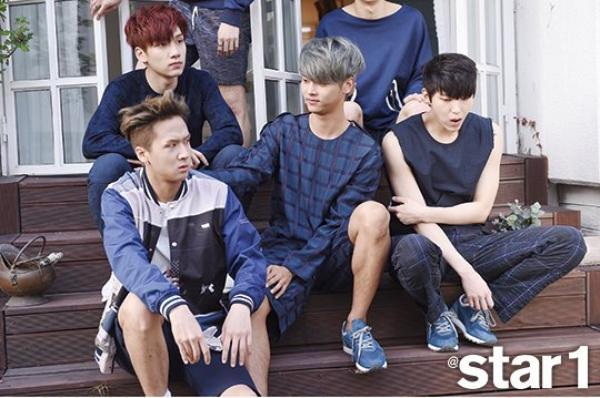 사진   Le groupe VIXX pose pour le magasine Star1, mai 2015    빅스