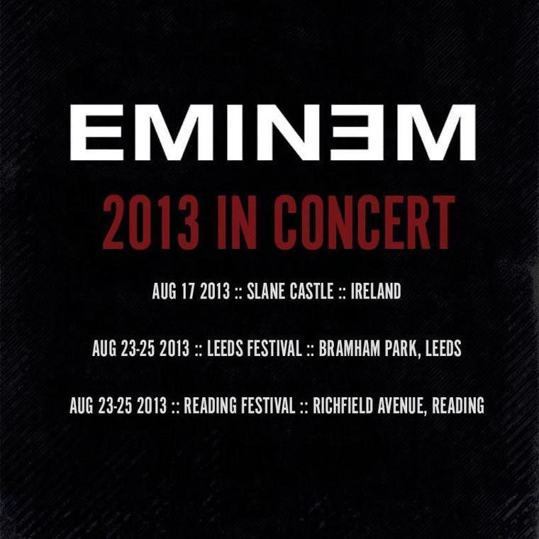 C'mon let me ride. + Eminem in concert 2013