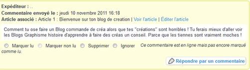 Article 1 : Bienvenue sur ton blog de creation