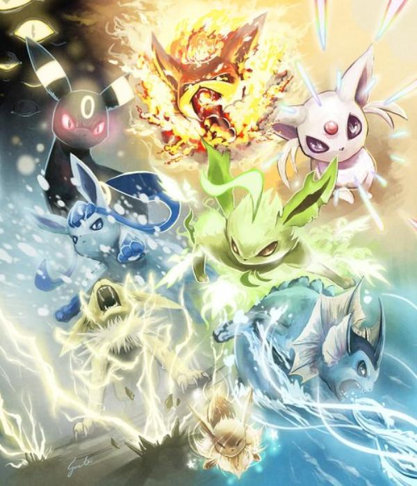 Famille evoli le monde pokemon - Pokemon noir 2 evoli ...