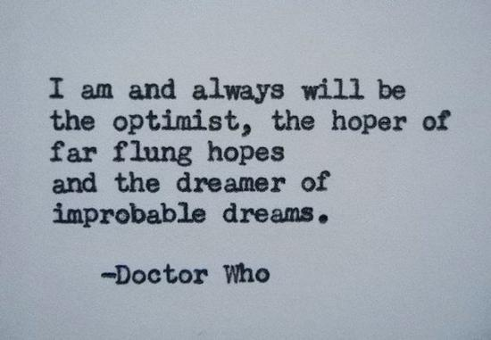 The Dreamer of improbable dreams : Doctor Who