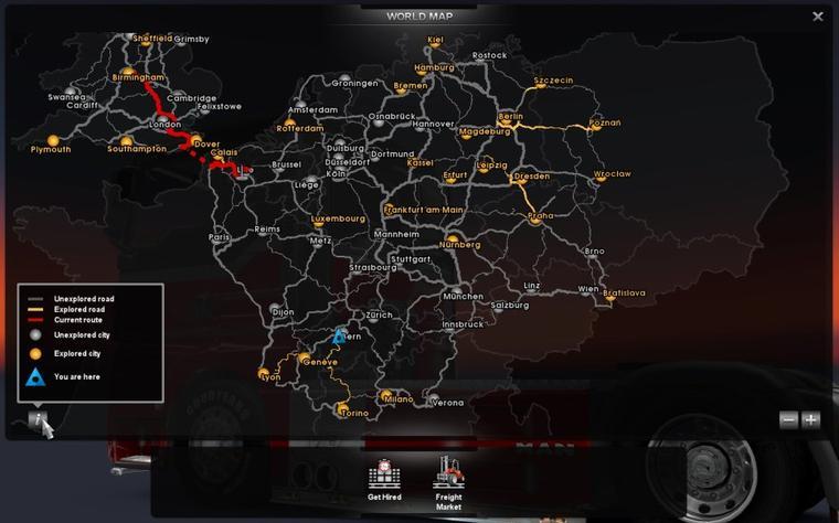 Euro truck simulator 2 carte termin e truck game - Garage mercedes mantes la ville ...