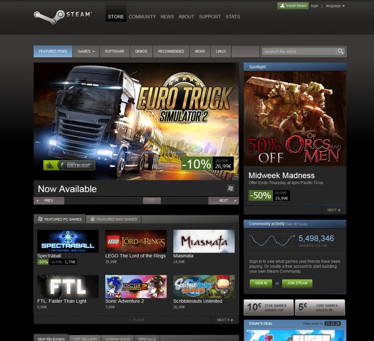 -10% jusqu'au 23 Janvier pour l'achat d'Euro Truck Simulator 2 sur Steam !!!