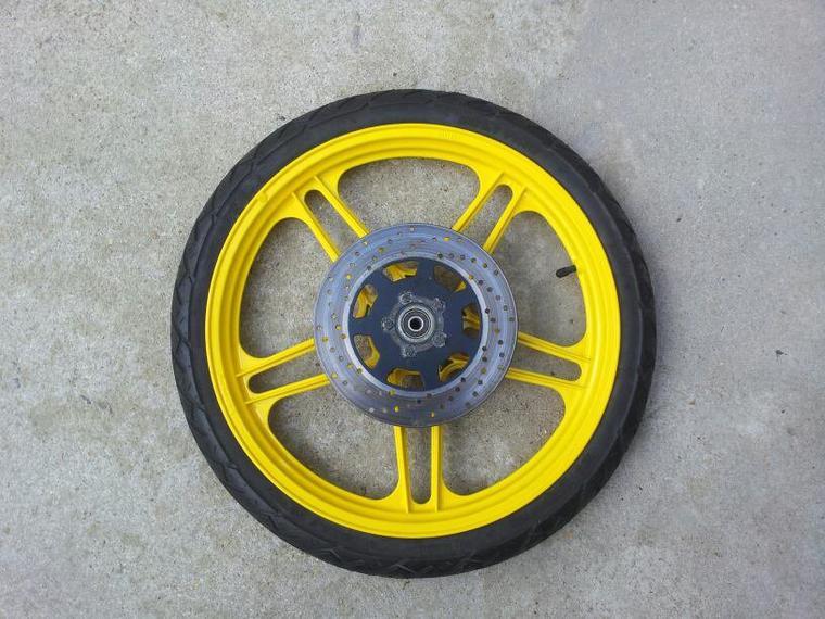 voilà  ma roue fini
