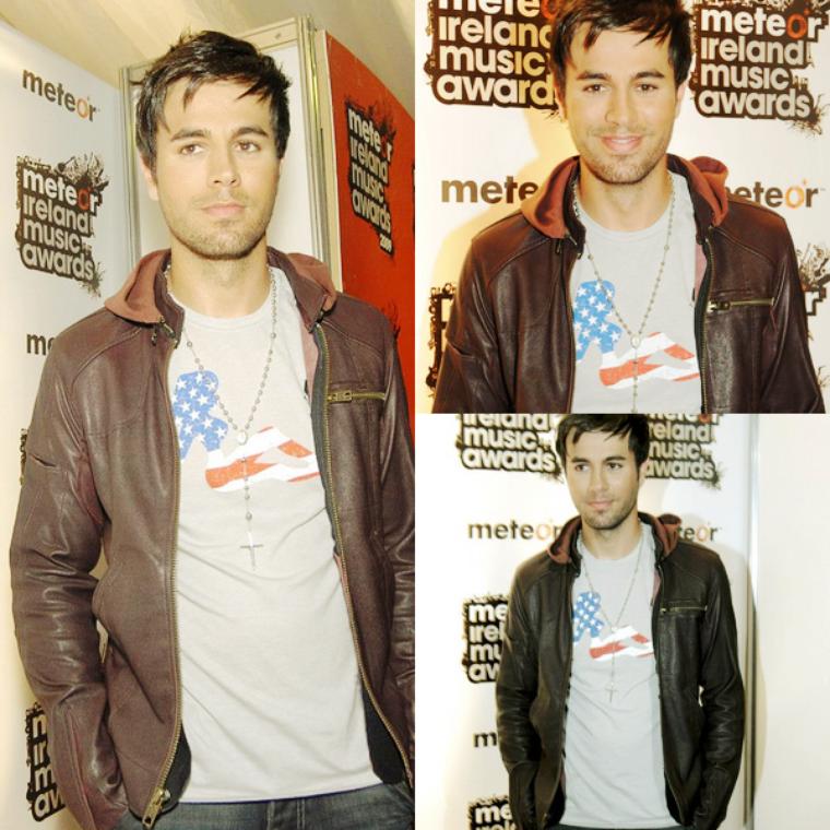 Enrique Iglesias était a la cérémonie des Meteor Music Awards 2009.      FLASHBACK