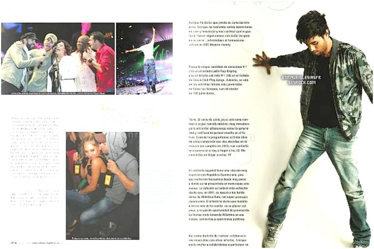 + MAGAZINE/PEOPLE: Enrique  apparait dans lemagazine SANTO DOMING TIME de Janvier-Février.