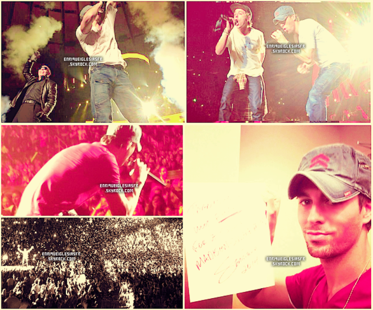 27/02/14 Enrique  à donner un concert à Dia Anahuacau Mexique.