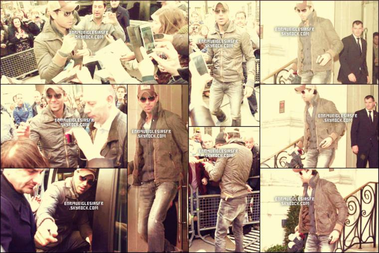 """29/03/14 Enrique  à était aperçus dans les rues deLondres à où il fait la promos de son album""""SEX&LOVE""""."""