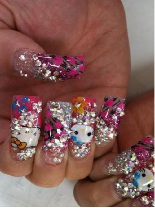santéé!!!!!!!a la folie du nails arts et comment faire son diams nails