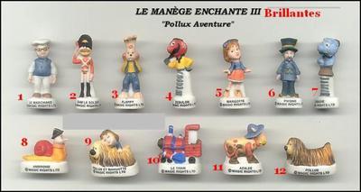 VENTE 134     -     LE MANEGE ENCHANTE 3     -     BRILLANTES     -     0 ¤ 50     +   Frais de port