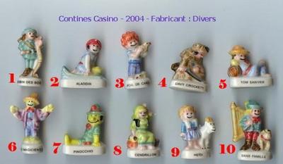 VENTE 157     -     CONTINES CASINO  2004     -     0 ¤ 50     +   Frais de port