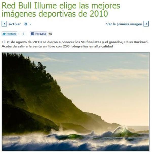 RED BULL ILLUME ELIGE LAS MEJORES IMÁGENES DEPORTIVAS DE 2010: https://www.redbullillume.com/