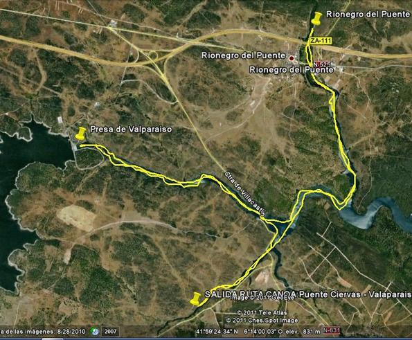 OTRA DE PIRAGUA: PUENTE CIERVAS-VALPARAISO- RIONEGRO DEL PUENTE. 10.09.2011