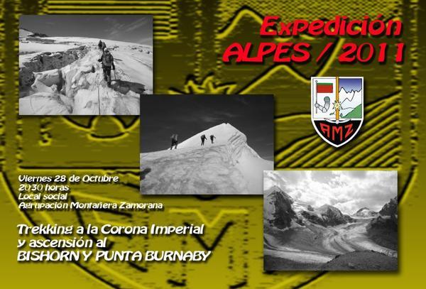 EXPEDICIÓN ALPES/2011, Viernes 28 a las 21'00 en la sede social de la AMZ.