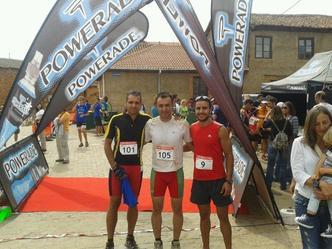 Daniel Hidalgo Sampedro, Raul Manrique Vecino y Juan Pedro Garrido Fernández. XI Duatlón de Tabuyo