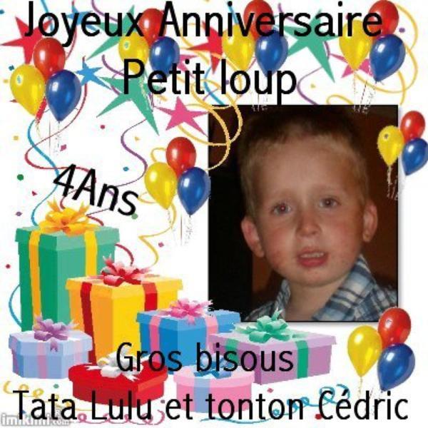 anniversaire de mon fils 4 ans