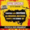 TOUTES LES INSTRUS DE MISERE RECORD A 40 EUROS CETTE SEMAINE SUR URBANBEAT