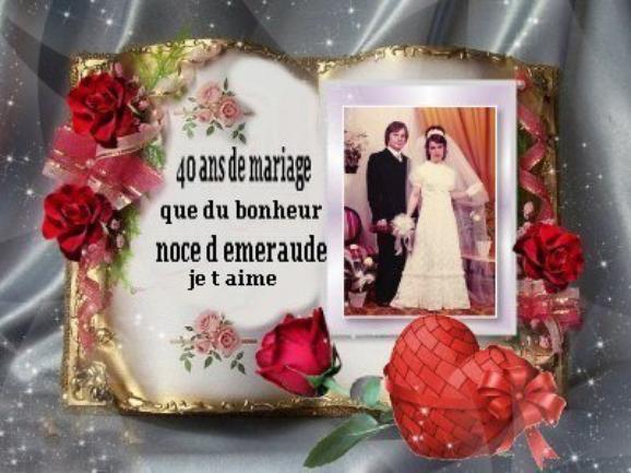 demain nous fetons nos 40 ans de mariage noce d emeraude - Noce De Mariage 40 Ans
