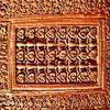 Détail du décor floral et géométrique du minbar de le grande mosquée de Kairouan