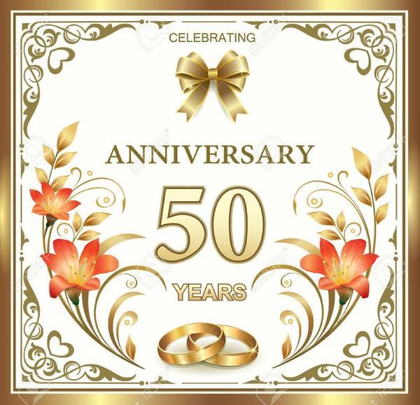 Joyeux Anniversaire Pour Vos 50 Ans De Mariage Je Vous