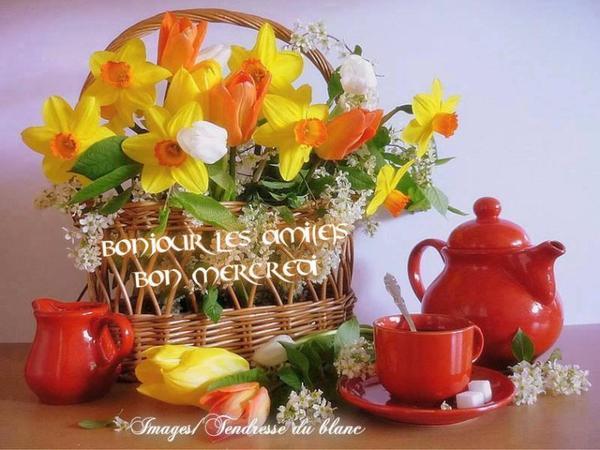 bonjour mes amis(es) .. je vous souhaite un excellent appétit, et un bon après midi de mercredi, ici c'est de nouveau la pluie !!!!!! .. bisous Josie