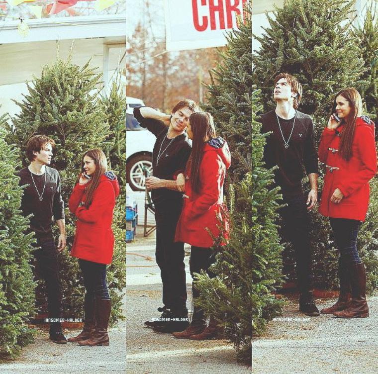 Ian et Nina ont choisi leur sapin de noel ensemble à atlanta. | Le 3 décembre 2012
