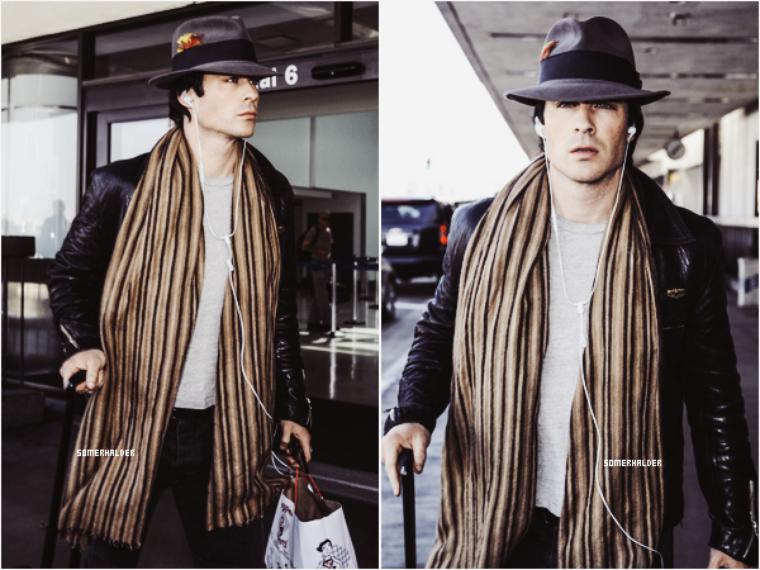 Ian a été vu (tout seul) à l'aéroport de LAX ce 27 février 2016