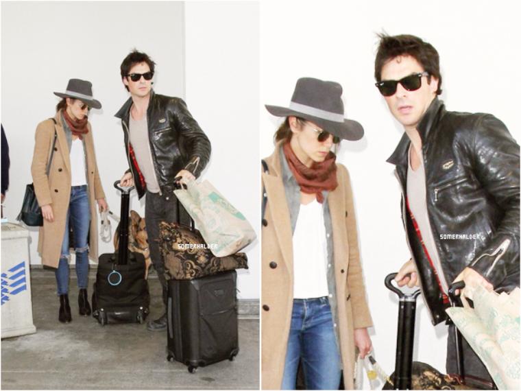 Ian et Nikki à l'aéroport de LAX ce 5 avril.