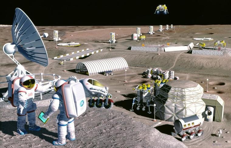 Base lunaire habitable & colonisation