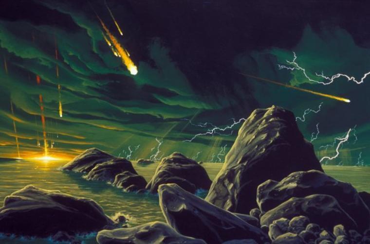 Pluie de météorites = Pluie de météores