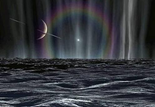 Magnétosphère de Saturne par rapport à sa lune Encelade