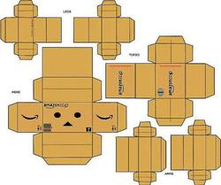 dando le petit bonhomme en carton danbo au. Black Bedroom Furniture Sets. Home Design Ideas