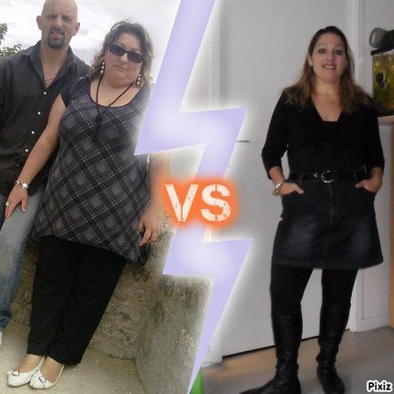 moi!!! avant et après...