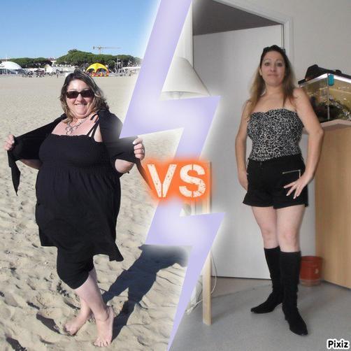 moi avant et après!!!