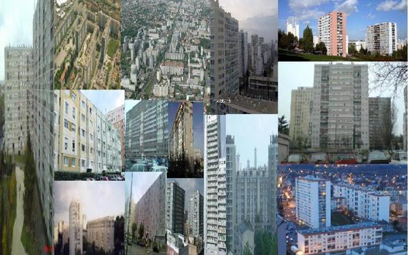 GRAND ENSEMBLE EST-OUEST DE VITRY-SUR-SEINE, (BALZAC/ROBESPIERRE/MONTAGNARD/MARRONIERS/LUCIEN FRANCAIS/BOURGOGNE/BARBUSSE/SQUARE DE L'HORLOGNE/COUZY/CAMILLE GROULT/MARIO CAPRA/LA COMMUNE ETC...) 94.