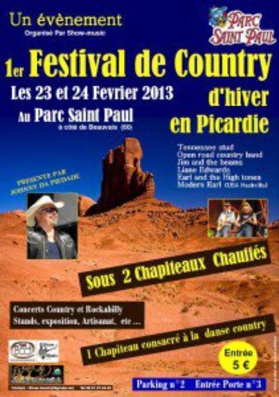 23 & 24 Février 2013 : Premier Festival Country d'Hiver en Picardie , hiha !!!!!!