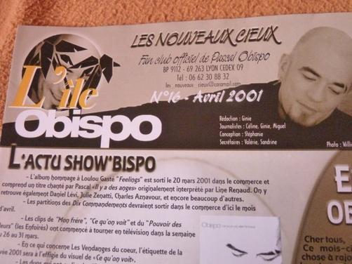 20 ans déjà ... Pascal Obispo et ses fans