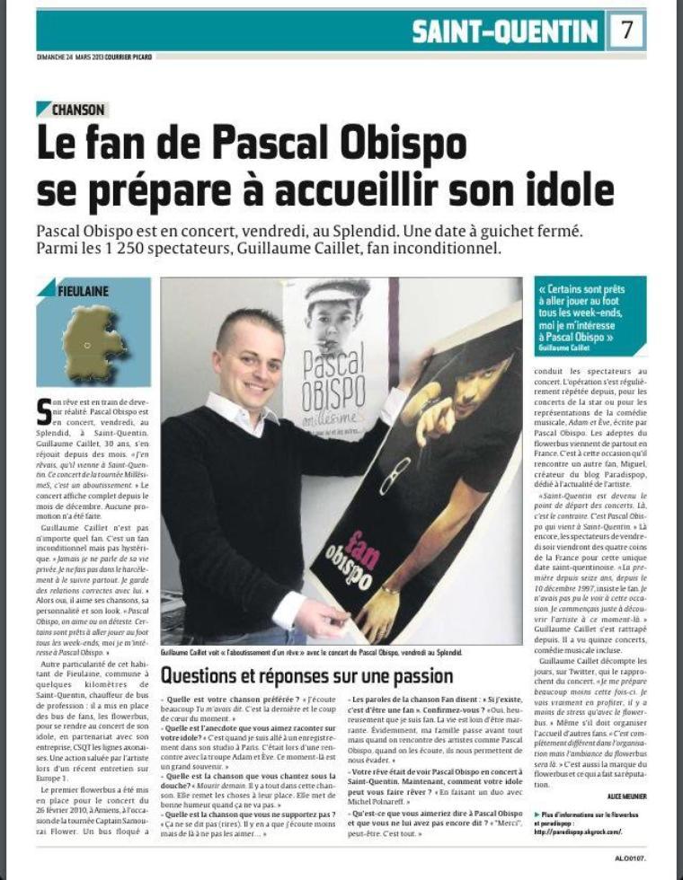 Jour J @a_saint_quentin et la Picardie accueillent @ObispoPascal @aisnenouvelle @Courrier_picard @MigParadispop