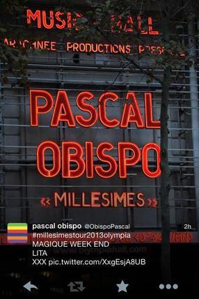 #MillésimeSTour @ObispoPascal retour à l' Olympia 10/11 Novembre, souriez vous êtes filmés ;)