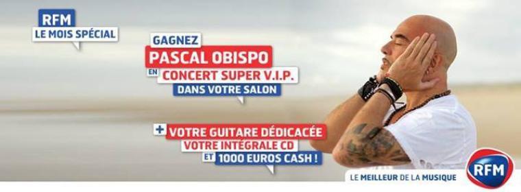 @RFMFrance vous offre le Mois spécial @ObispoPascal LA TOTALE albums, guitare, concert V.I.P