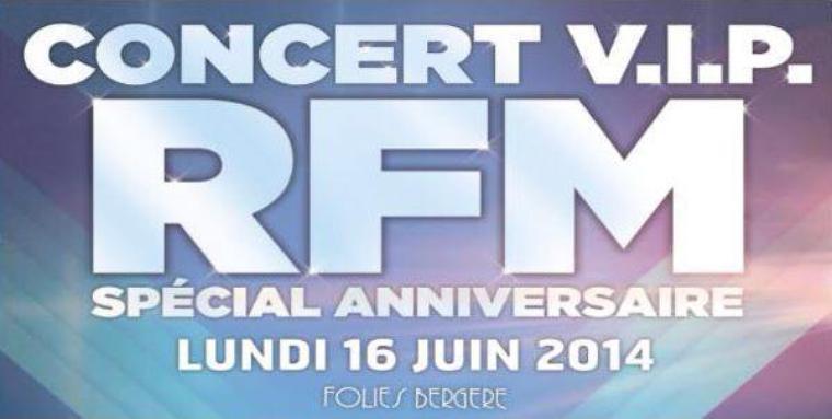 Anniversaire @RFMfrance le 16 Juin avec @ObispoPascal aux Folies Bergères