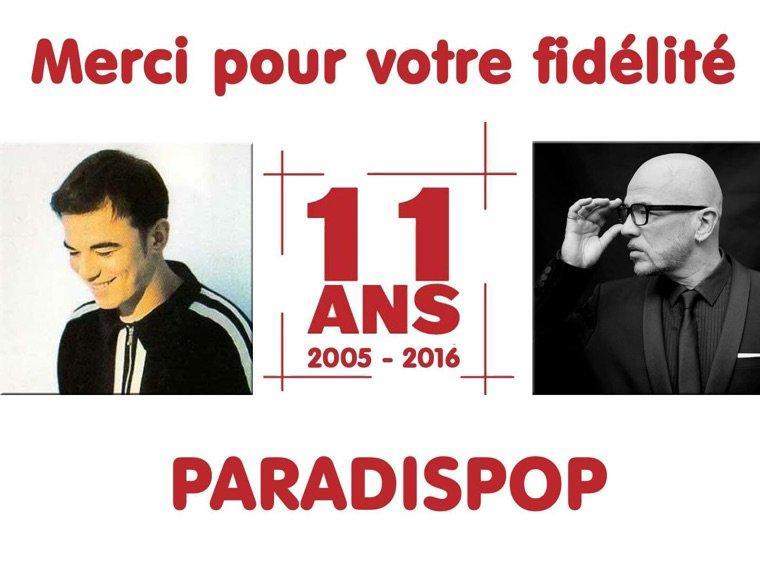@Paradispop fête ses 11 ans aujourd'hui - @ObispoPascal