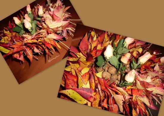 Guirlande de feuilles de liquidambar