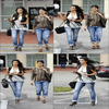 ***************************************  Teaming up for a sisterly shopping session, Kim and Kourtney Kardashian were busy venturing around sunny Miami, Florida on Thursday afternoon (March 18)***************************************