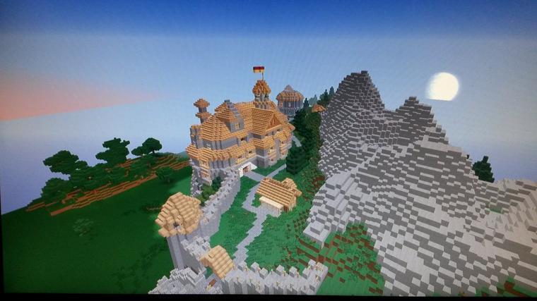 château sur minecraft