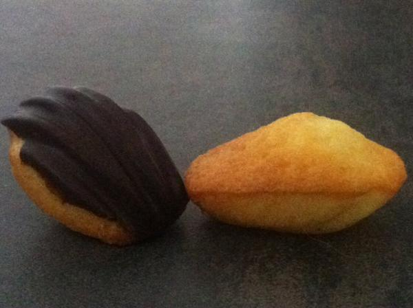 Madeleine nature et chocolat