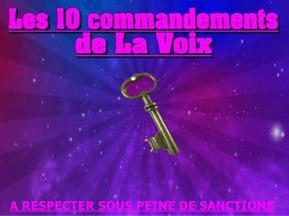 Les 10 commandements de la Voix