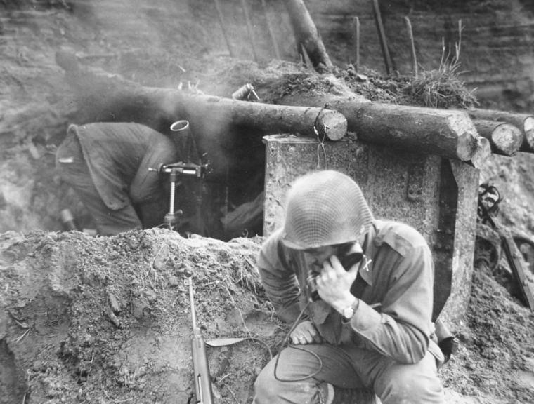 70th, 27 Février 1945 compagnie D, 276e régiment d'infanterie.