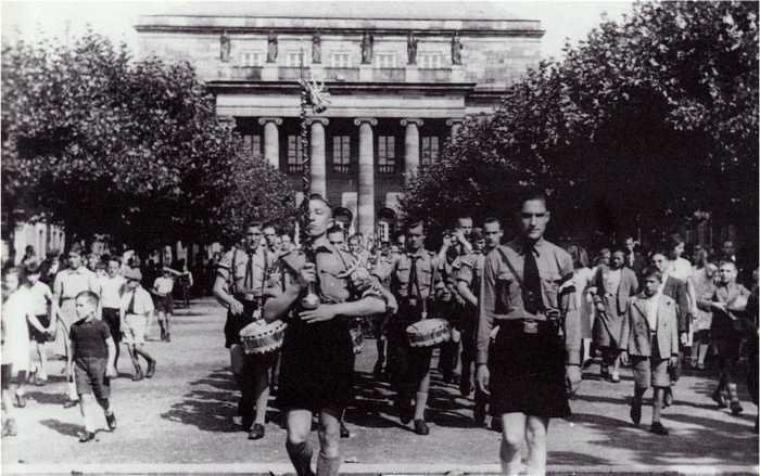Place Broglie défilé des jeunesses hitlériennes